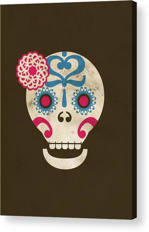 Animal Skull Acrylic Print featuring the digital art Calaca by Marco Recuero
