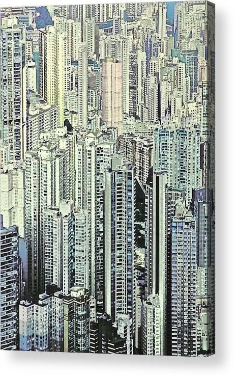 City Acrylic Print featuring the photograph City by Gillis Cone