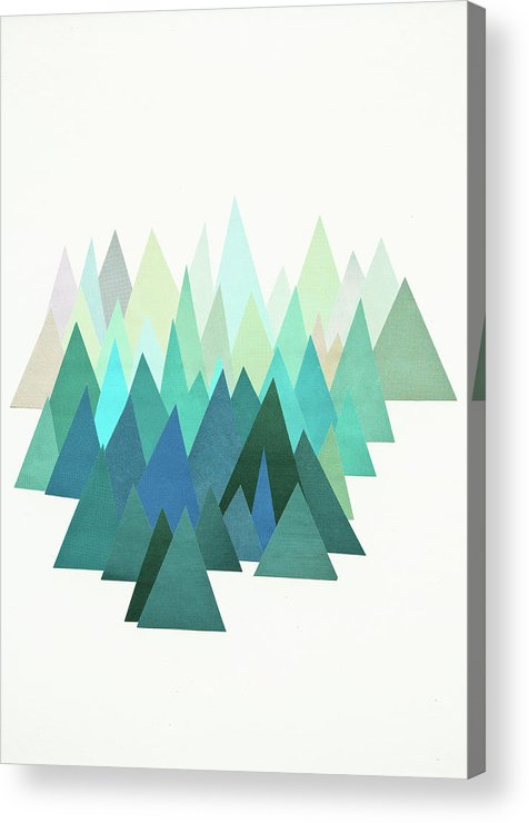 Mountains Acrylic Print featuring the mixed media Cold Mountain by Cassia Beck