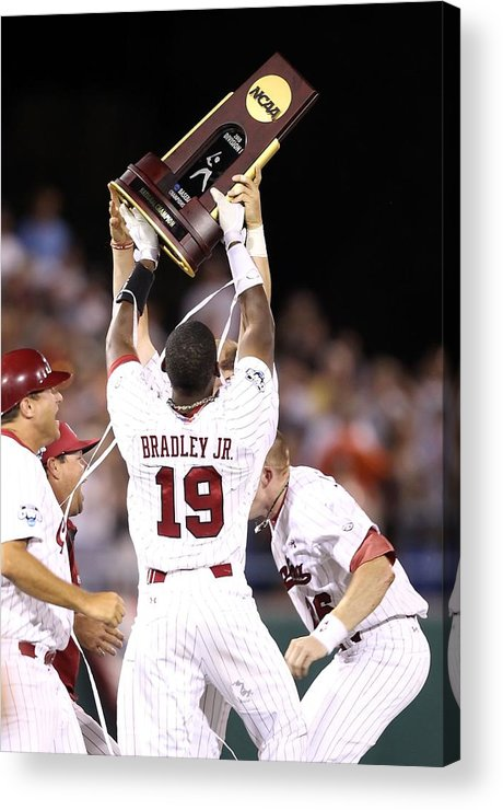 Game Two Acrylic Print featuring the photograph College World Series - Game Two by Christian Petersen