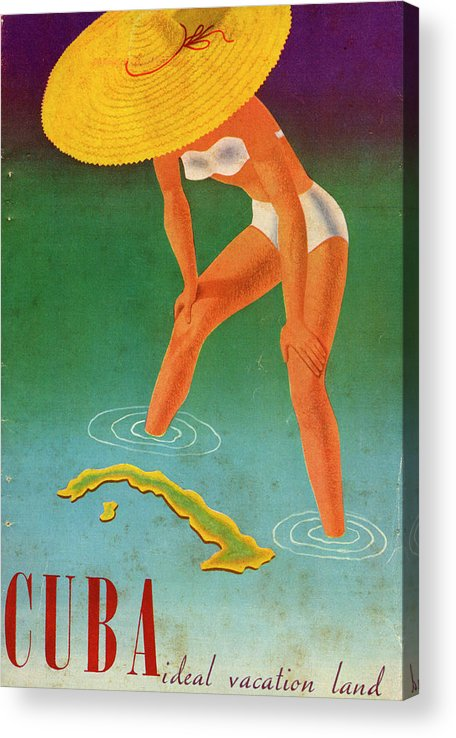 Recreational Pursuit Acrylic Print featuring the photograph Cuba, Ideal Vacation Land by Jim Heimann Collection