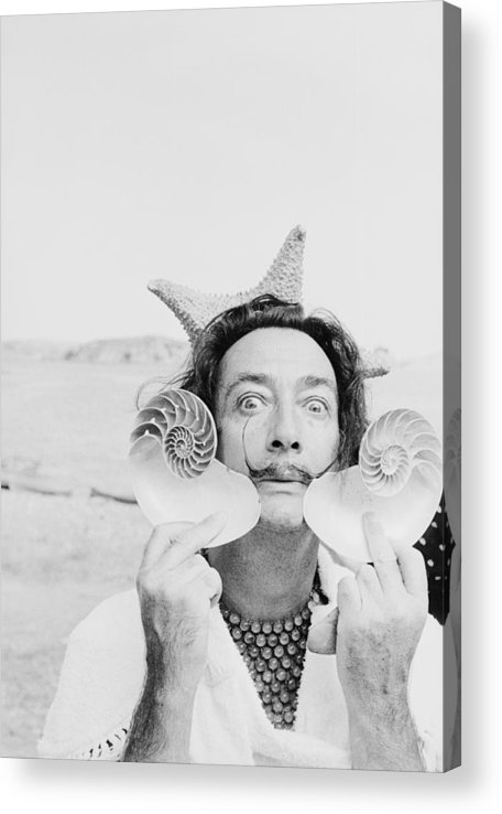 Painter Acrylic Print featuring the photograph Dali With Shells by Charles Hewitt