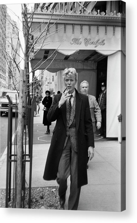 David Bowie Acrylic Print featuring the photograph David Bowie by Art Zelin