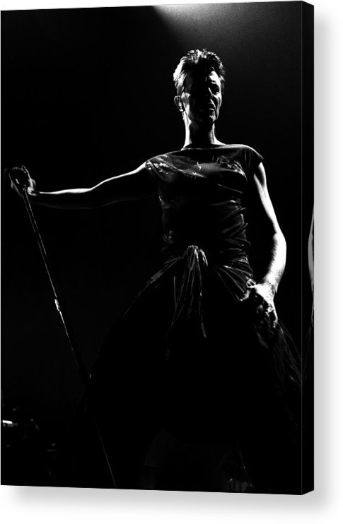 David Bowie Acrylic Print featuring the photograph David Bowie by Paul Bergen