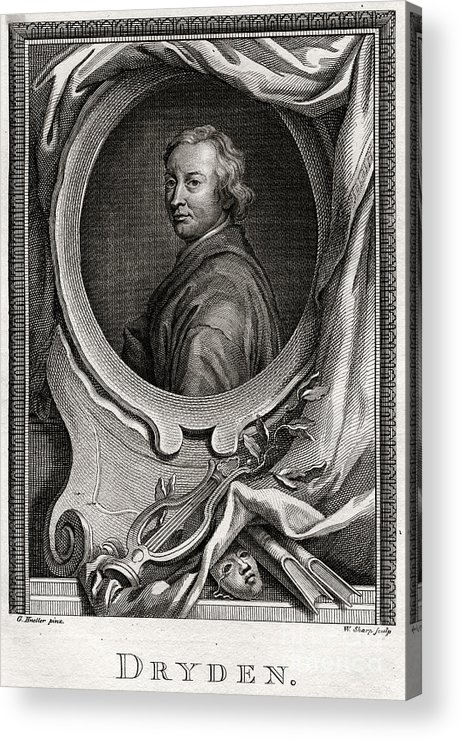 Engraving Acrylic Print featuring the drawing Dryden, 1775. Artist W Sharp by Print Collector