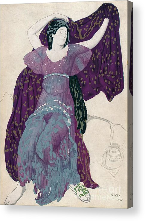 Gouache Acrylic Print featuring the drawing Echo Abandonée, 1922, 1923 by Print Collector