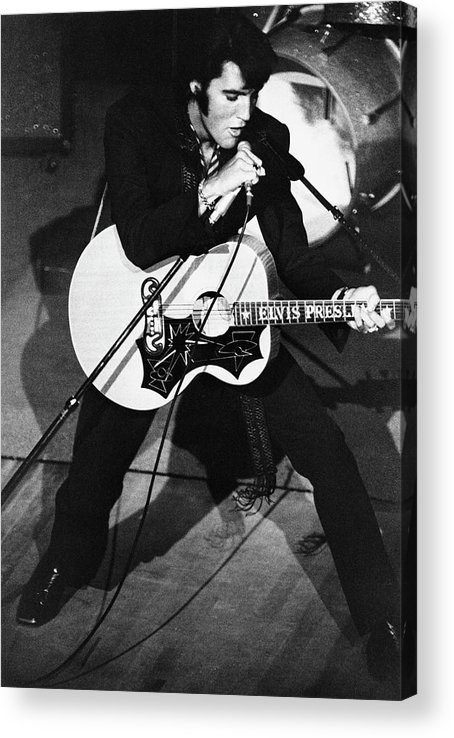 Elvis Presley Acrylic Print featuring the photograph Elvis In Vegas by Archive Photos