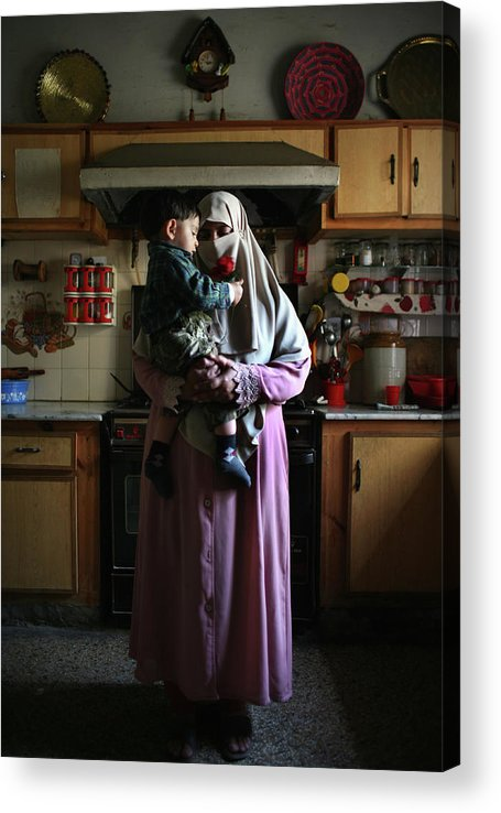 Son Acrylic Print featuring the photograph Families Of Disappeared Await News Of by John Moore