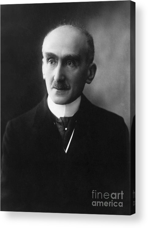 Mature Adult Acrylic Print featuring the photograph French Philosopher Henri-louis Bergson by Bettmann