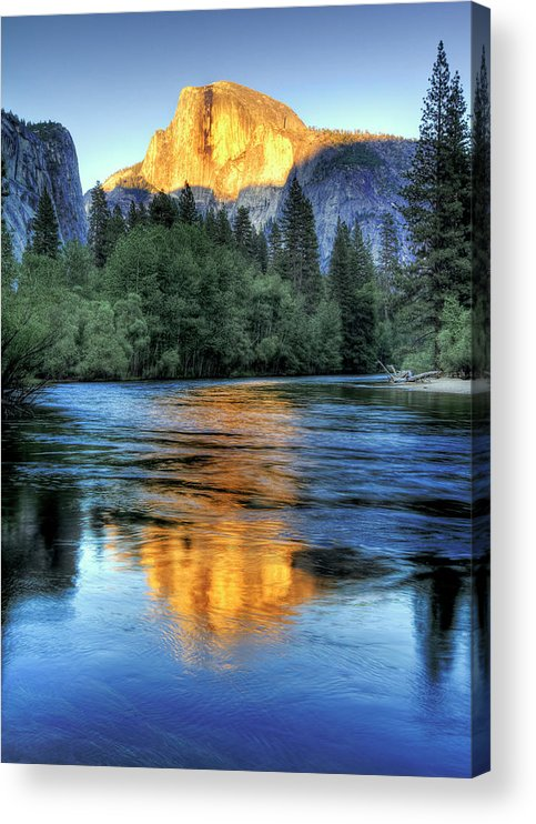 Scenics Acrylic Print featuring the photograph Golden Light On Half Dome by Mimi Ditchie Photography