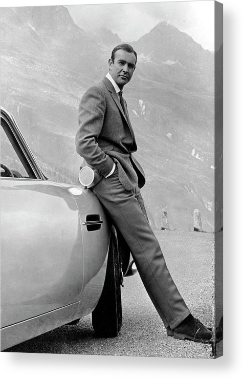 Sean Connery Acrylic Print featuring the photograph Goldfinger by Michael Ochs Archives