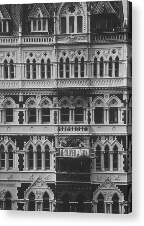 Gothic Style Acrylic Print featuring the photograph Gothic Architecture Office Building. P by John Dominis