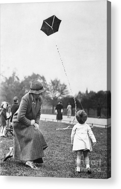 Toddler Acrylic Print featuring the photograph Grandmother With Toddler Girl 2-3 by Bettmann