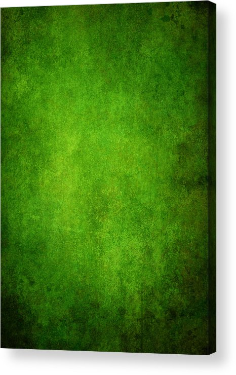 Stained Acrylic Print featuring the photograph Green Grunge Background by Mammuth