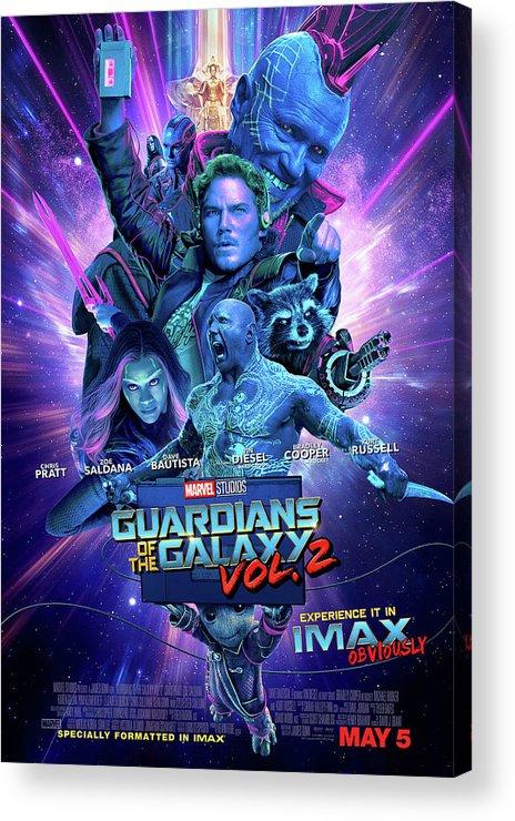 Guardians Of The Galaxy Vol.2 Acrylic Print featuring the digital art Guardians Of The Galaxy Vol.2 by Geek N Rock