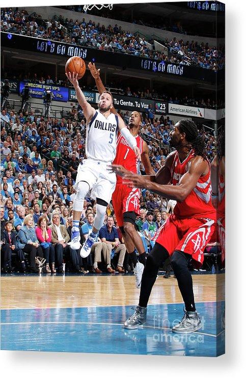 Nba Pro Basketball Acrylic Print featuring the photograph Houston Rockets V Dallas Mavericks by Danny Bollinger