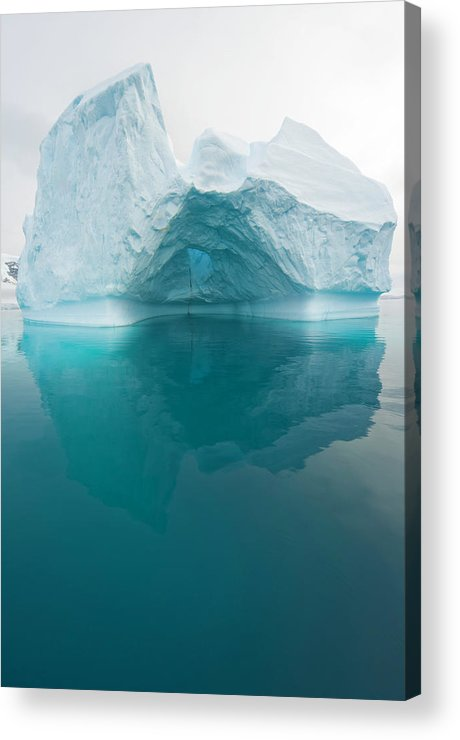 Iceberg Acrylic Print featuring the photograph Iceberg And Reflections, Antarctic by Eastcott Momatiuk