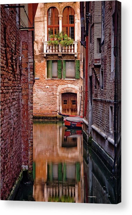 Shutter Acrylic Print featuring the photograph Italy, Veneto, Venice, Rio San Antonio by Slow Images