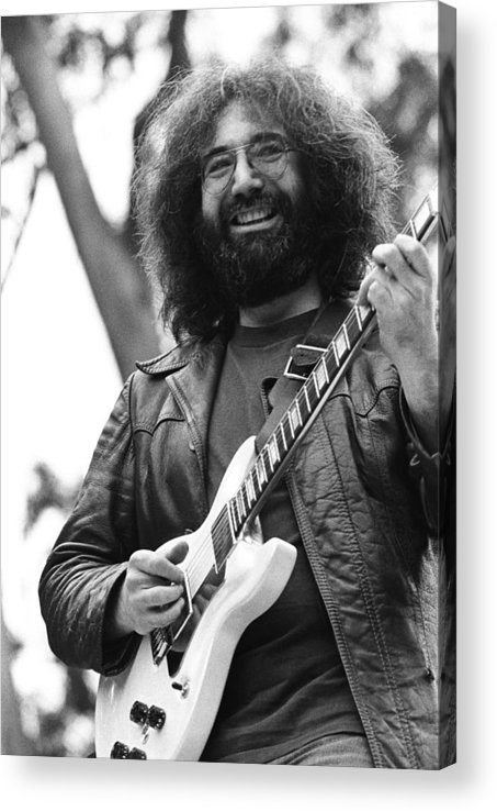 Music Acrylic Print featuring the photograph Jerry Garcia Performs Live by Richard Mccaffrey