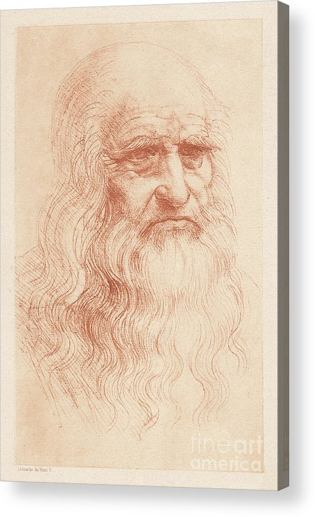 Painter Acrylic Print featuring the digital art Leonardo Da Vinci 1452-1519, Italian by Zu 09