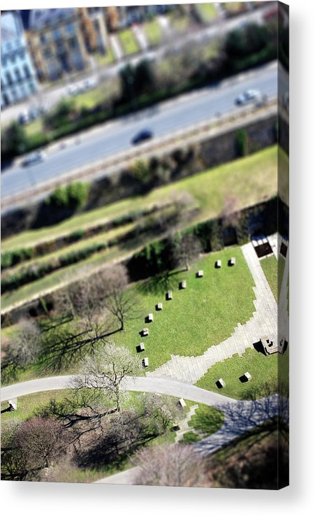 England Acrylic Print featuring the photograph Liverpool From Above, Tilt-shift Lens by Ilbusca