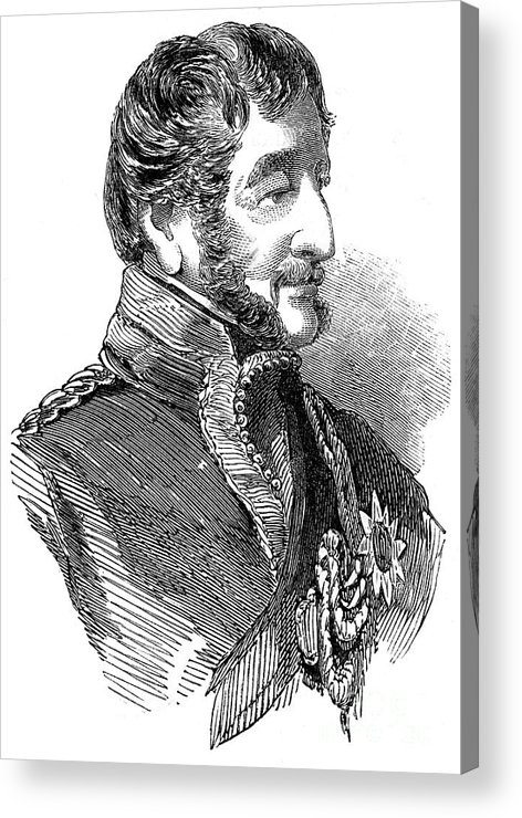 Engraving Acrylic Print featuring the drawing Major Henry Somerset, 7th Duke by Print Collector