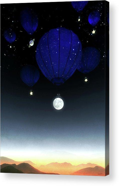 Moon Acrylic Print featuring the digital art Moonrise by Cynthia Decker