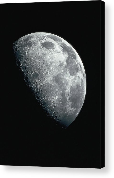 Clear Sky Acrylic Print featuring the photograph North Pole Of The Earths Moon by Stocktrek