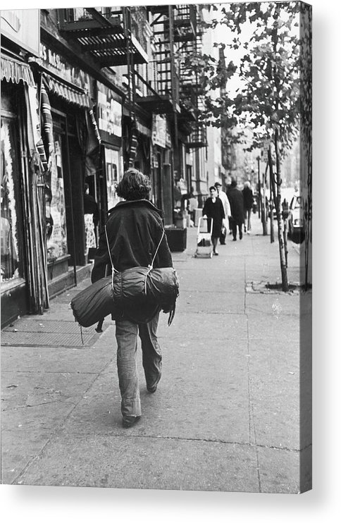 People Acrylic Print featuring the photograph On The Streets Of The East Village, 1967 by Fred W. McDarrah