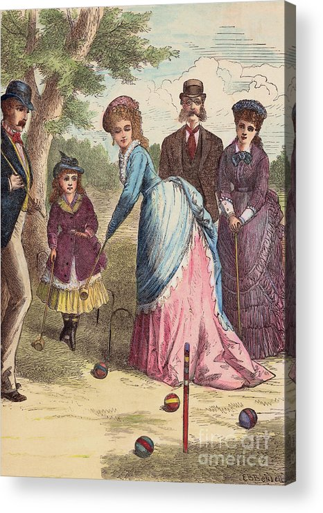 Art Acrylic Print featuring the photograph People Playing Croquet by Bettmann