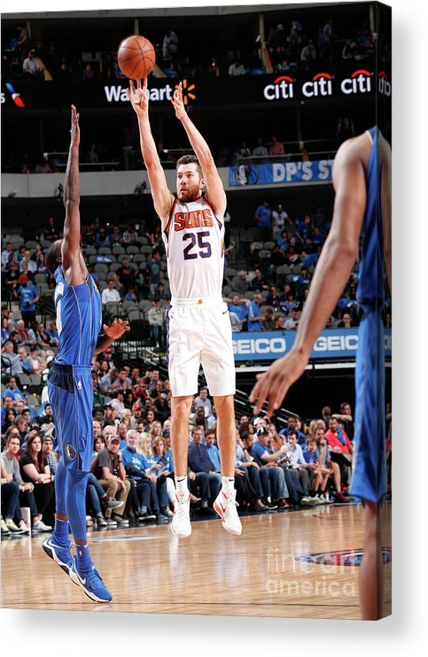 Sports Ball Acrylic Print featuring the photograph Phoenix Suns V Dallas Mavericks by Danny Bollinger