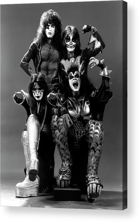 Heavy Metal Acrylic Print featuring the photograph Photo Of Ace Frehley And Peter Criss by Fin Costello