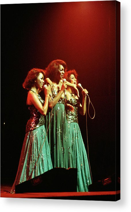 Mary Wilson Acrylic Print featuring the photograph Photo Of Supremes And Susaye Greene And by Keith Bernstein
