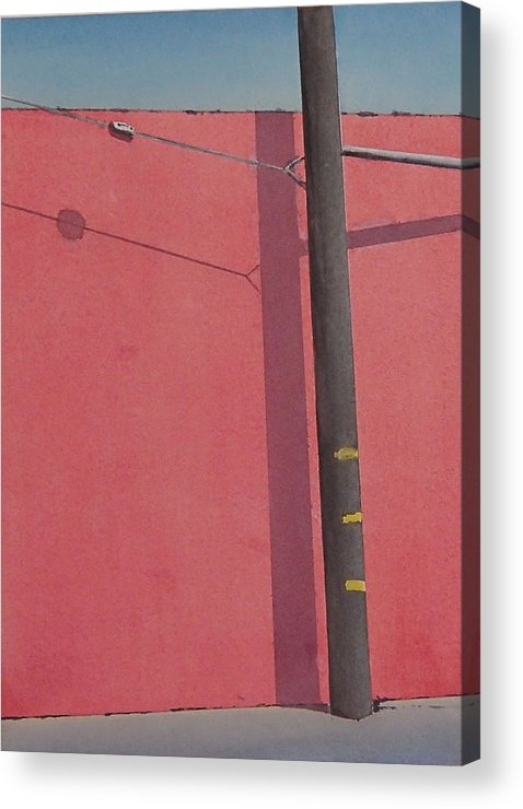 Acrylic Print featuring the painting Pink wall by Philip Fleischer