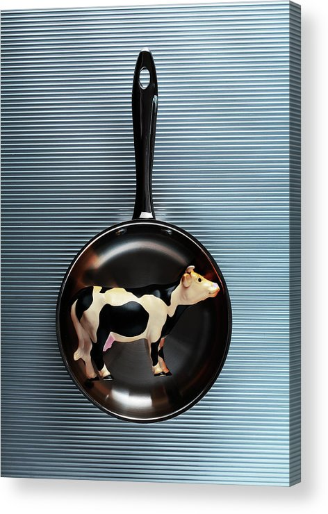 Concepts & Topics Acrylic Print featuring the photograph Raw Steak by Thepalmer