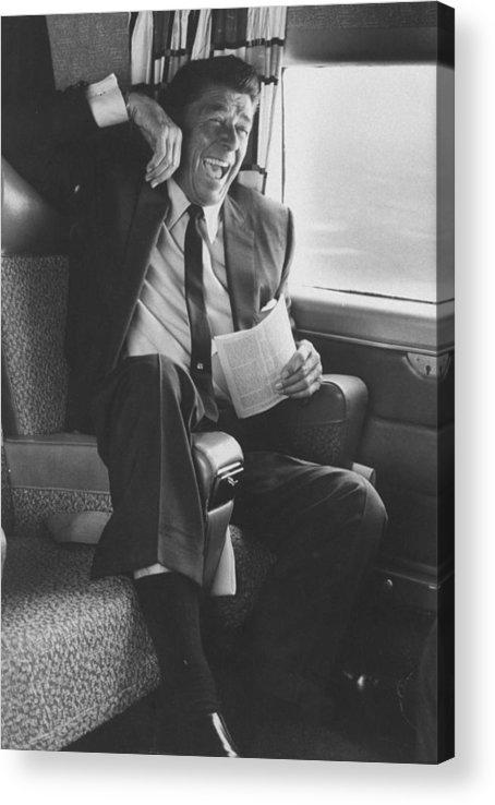 Timeincown Acrylic Print featuring the photograph Ronald W. Reagan by John Loengard