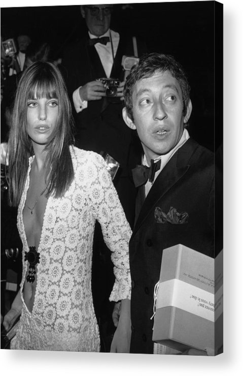 Artist Acrylic Print featuring the photograph Serge Gainsbourg And Jane Birkin by Keystone-france