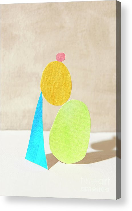 Art Acrylic Print featuring the photograph Shapes Balanced On Each Other by Tara Moore