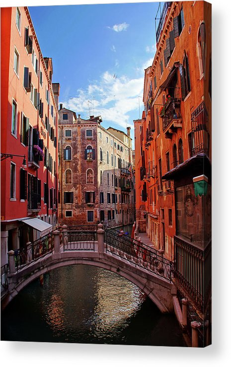 Arch Acrylic Print featuring the photograph Small Canals In Venice Italy by Totororo