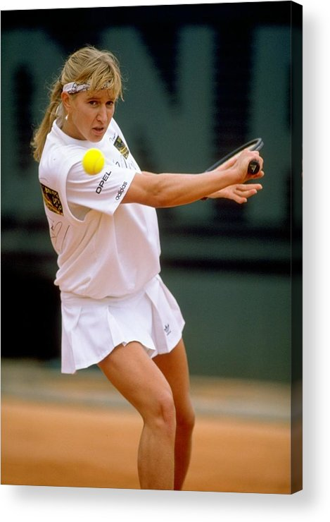 Tennis Acrylic Print featuring the photograph Steffi Graf by Simon Bruty