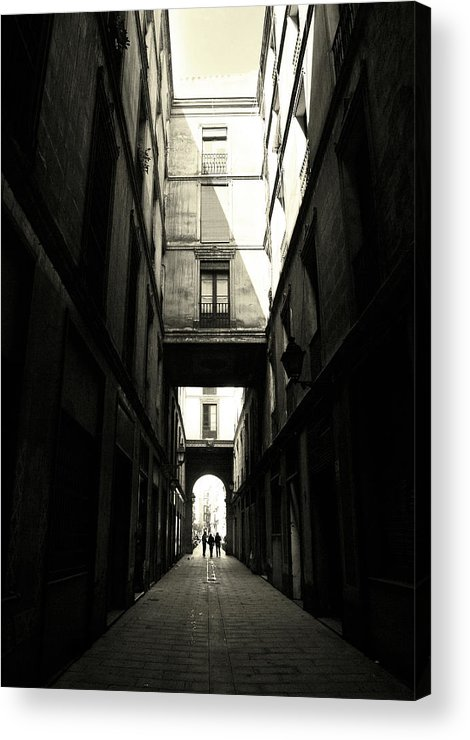 Arch Acrylic Print featuring the photograph Street In Barcelona by Maria Fernandez