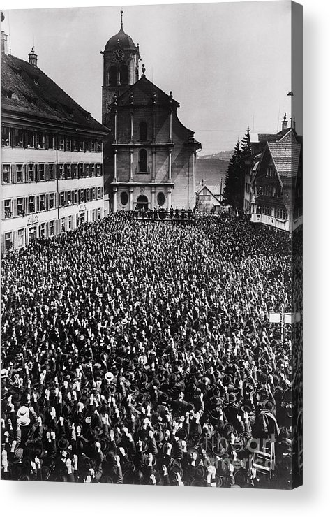 People Acrylic Print featuring the photograph Swiss Open Air Meeting by Bettmann