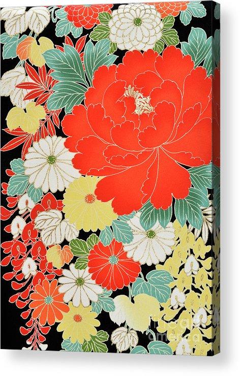 Art Acrylic Print featuring the photograph The Japanese Kimono, Close by Yagi Studio