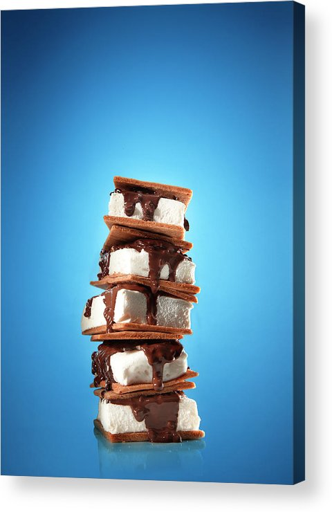 Temptation Acrylic Print featuring the photograph Tower Of Smores Treats by Annabelle Breakey