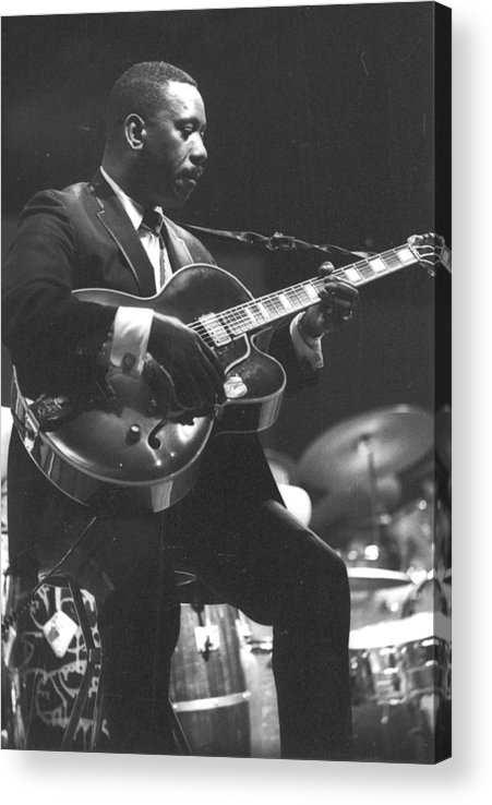 Guitarist Acrylic Print featuring the photograph Wes Montgomery Performing by Tom Copi