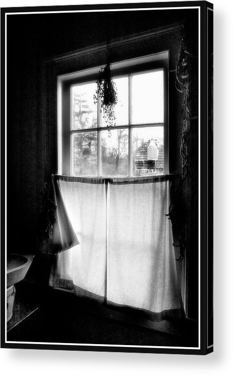 A Kitchen Window Acrylic Print featuring the photograph Window Lighting #2 by Harold Silverman - Buildings & Cityscapes