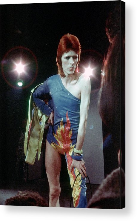 Ziggy Stardust - Persona Acrylic Print featuring the photograph Ziggy Stardust Era Bowie by Michael Ochs Archives