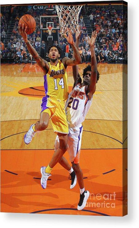 Nba Pro Basketball Acrylic Print featuring the photograph Brandon Ingram by Barry Gossage