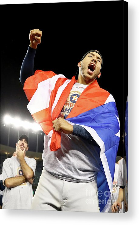 Three Quarter Length Acrylic Print featuring the photograph Carlos Correa by Ezra Shaw