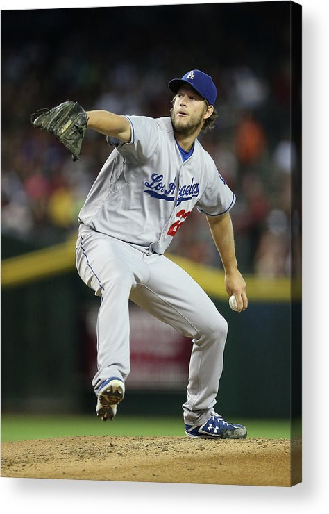 People Acrylic Print featuring the photograph Clayton Kershaw by Christian Petersen